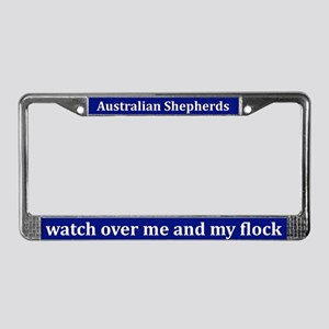 Australian Shepherds Watch License Plate Frame